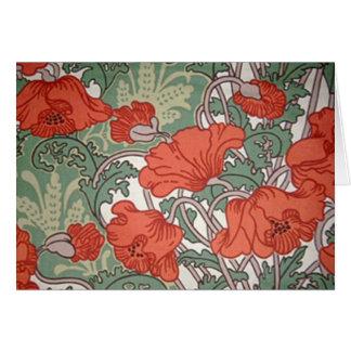 Art Nouveau Poppies Card