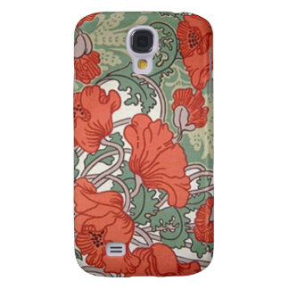 Art Nouveau Poppies Galaxy S4 Covers