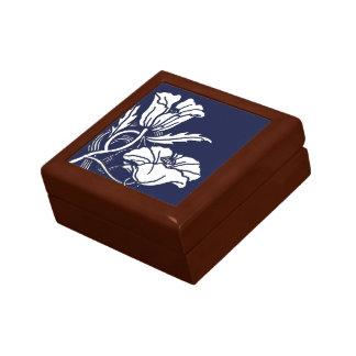 Art Nouveau Poppies Ceramic Tile Box