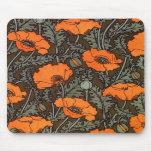 Art Nouveau Poppies Mousepad