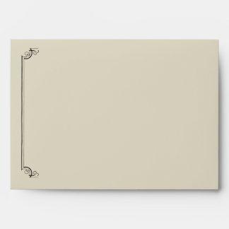 Art Nouveau Posh Wedding Envelope