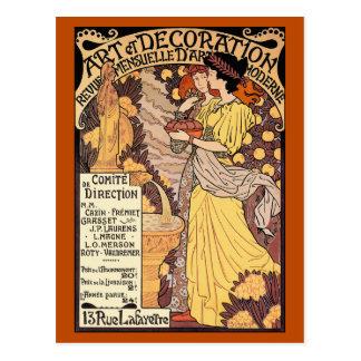 Art Nouveau Postcard: Art & Decoration Postcard
