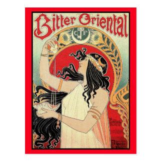"Art Nouveau Postcard:  ""Bitter Oriental"" Postcard"