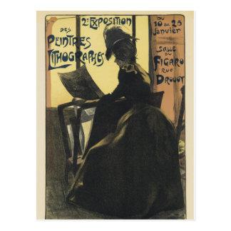 Art Nouveau Postcard - Exposition