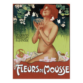 Art Nouveau Postcard - Fleurs de Mousse