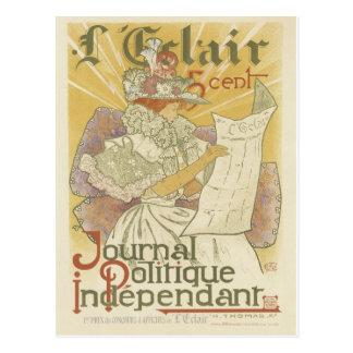 Art Nouveau Postcard - Journal