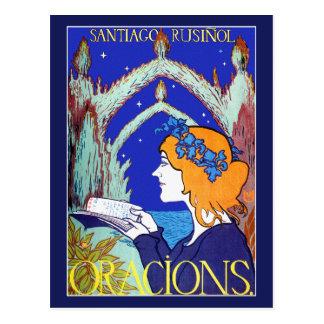 Art Nouveau Postcard: Vintage Advertising: Oracion Postcard
