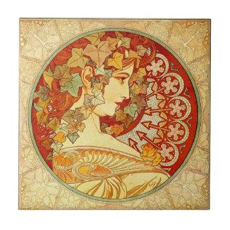 Art Nouveau Poster Design Ceramic Tile
