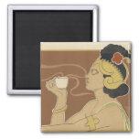 Art Nouveau Poster Magnets -Coffee/Tea