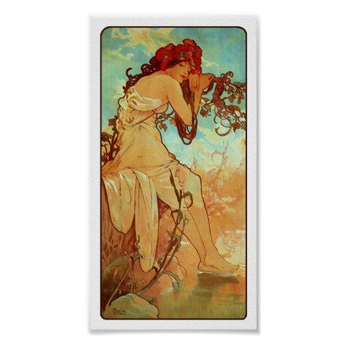 Art Nouveau Poster - Mucha - Summer posters