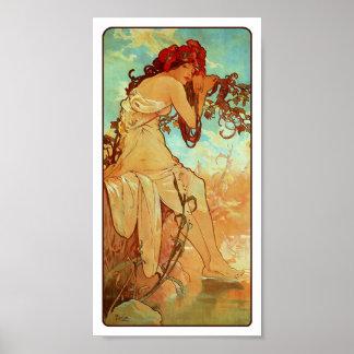 Art Nouveau Poster - Mucha - Summer