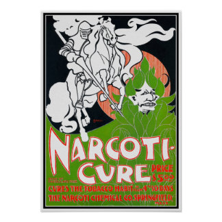 Art Nouveau Poster:  Narcoti-Cure by Will Bradley
