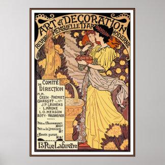 Art Nouveau Poster Print: Art of Decoration