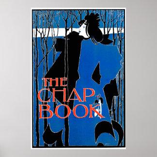 Art Nouveau Poster Print:  Blue Lady - by Bradley