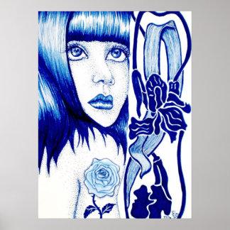 """Art Nouveau Poster """"Violet"""""""