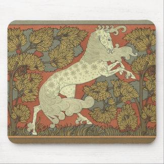 Art Nouveau Prancing Horse Mouse Pad
