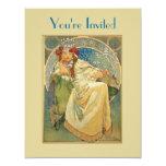 Art Nouveau Princess Bridal Shower Invitation