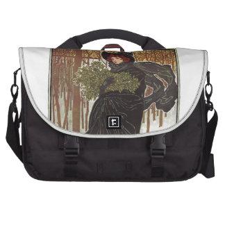 Art Nouveau Print, Lady of the Forest Commuter Bags
