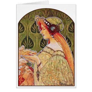 """Art Nouveau: Privat-Livemont """"Biscuits"""" Card"""