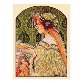 """Art Nouveau: Privat-Livemont """"Biscuits"""" Postcard"""
