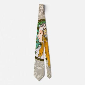 Art Nouveau Profile 1895 Neck Tie