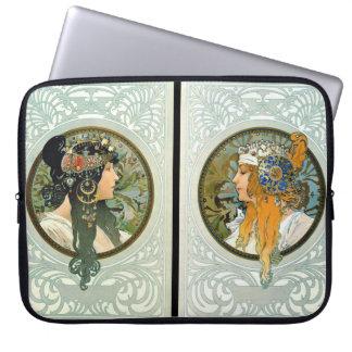 Art Nouveau Profiles 1895 Laptop Sleeve
