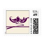 Art nouveau Purple flower Stamp