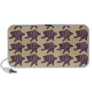 Art Nouveau Purple Shells Travel Speaker