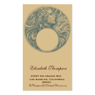 Art Nouveau Queen Business or Name Card Business Card