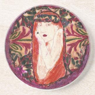 Art Nouveau Rapunzel Drink Coaster