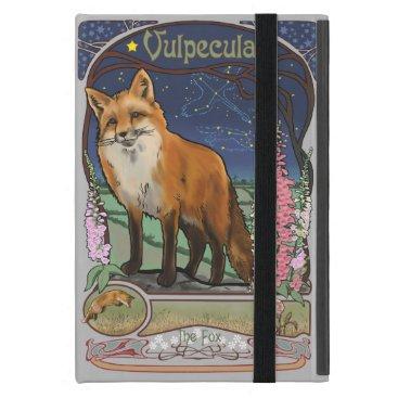 Art Nouveau Red Fox Constellation Case For iPad Mini
