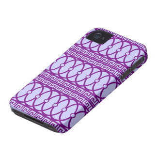 Art nouveau repeating magenta pattern iPhone 4 case