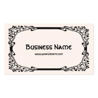 Art Nouveau Retro Elegant Black Decorative Border Double-Sided Standard Business Cards (Pack Of 100)