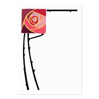 Art nouveau rose business card templates