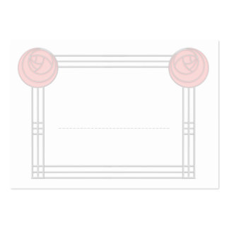 Art Nouveau Rose Frame Wedding Meal Seating Cards Large Business Cards (Pack Of 100)