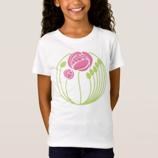Art Nouveau Rose in the Style of Rennie Mackintosh T-Shirt