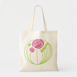 Art Nouveau Rose in the Style of Rennie Mackintosh Tote Bag