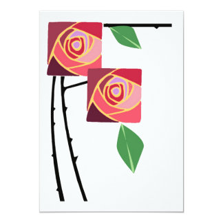 Art Nouveau roses and thorns Card