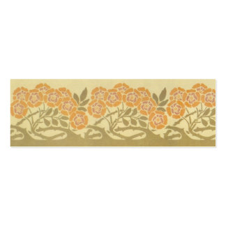 Art Nouveau Roses Double-Sided Mini Business Cards (Pack Of 20)