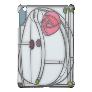 Art Nouveau Roses Design in Stained Glass Effect iPad Mini Cases