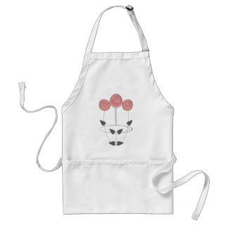 Art Nouveau Roses in Pink and Grey Adult Apron