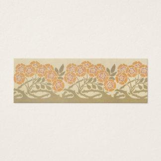 Art Nouveau Roses Mini Business Card