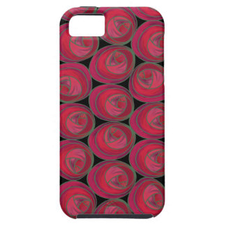 Art Nouveau Roses Pattern in Pink and Red iPhone 5 Case