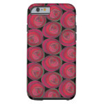 Art Nouveau Roses Pattern in Pink and Red iPhone 6 Case