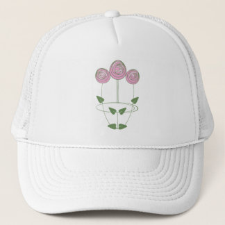 Art Nouveau Roses Trucker Hat