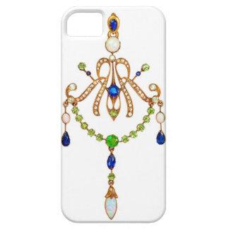 Art Nouveau Russian Jeweled Pendant iPhone 5 Case