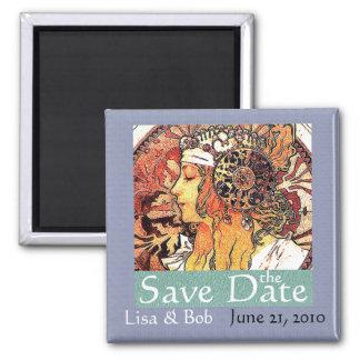 Art Nouveau Save the Date Magnet