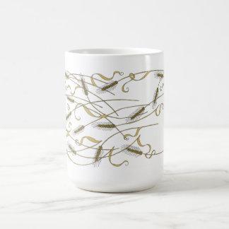 Art Nouveau Scattered wheat Classic White Coffee Mug