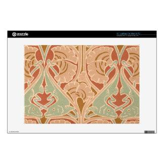 """Art Nouveau Sea Pattern Antique Print 13"""" Laptop Skin"""