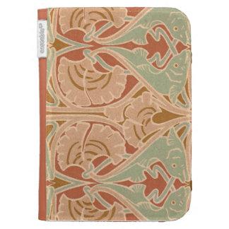 Art Nouveau Sea Theme Pattern Kindle Keyboard Case